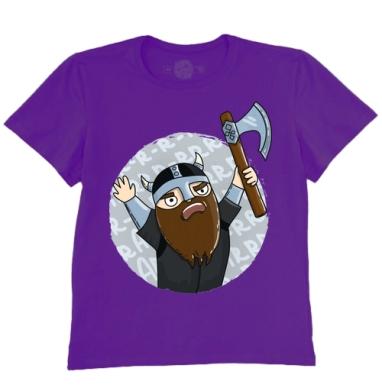 Футболка мужская темно-фиолетовая - Викинги   (муж.)