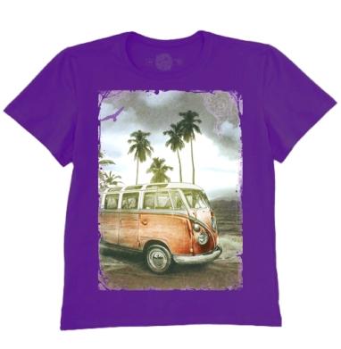 Футболка мужская темно-фиолетовая - Куба рядом