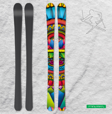 Фонтан - Наклейки на лыжи