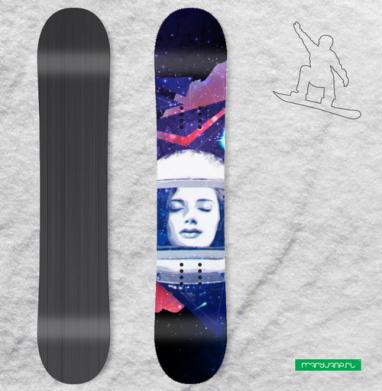 Когда ты просто космос - Наклейки на доски - сноуборд, скейтборд, лыжи, кайтсерфинг, вэйк, серф