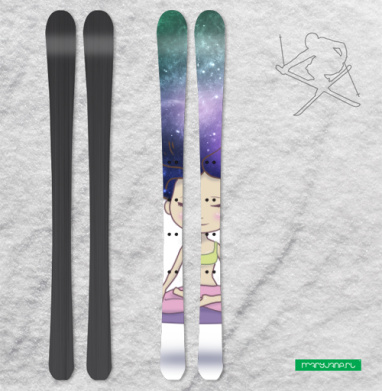 В Пространстве - Наклейки на лыжи
