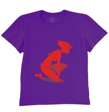Футболка мужская темно-фиолетовая - Силуэт