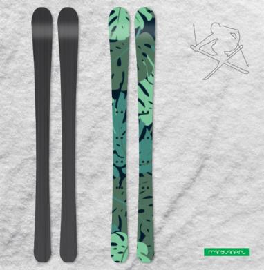 Суккулентики - Наклейки на лыжи