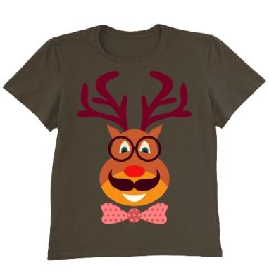 Футболка мужская коричневая - Hipster Deer
