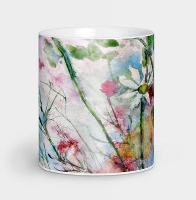 Осенние цветы - Кружки с логотипом