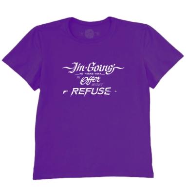 Футболка мужская темно-фиолетовая - Крестный отец