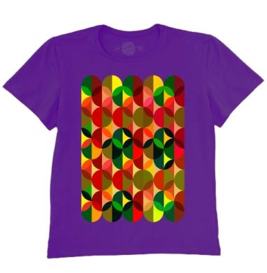 Футболка мужская темно-фиолетовая - Калейдоскоп
