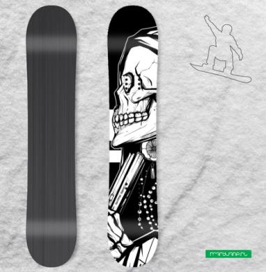 Муэрте - Сплошные наклейки сноуборд c черепами
