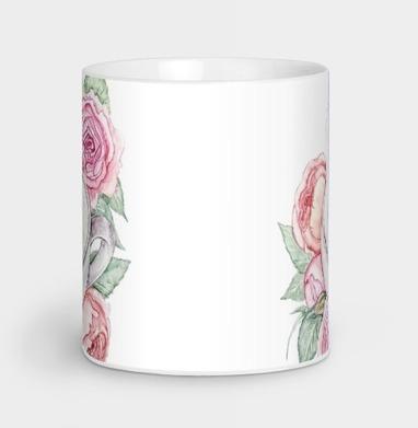 Белый кролик в чашке, Кружка