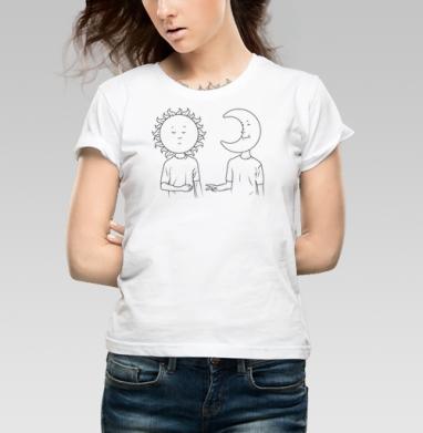 Day/night - Купить детские футболки с солнцем в Москве, цена детских футболок с солнцем с прикольными принтами - магазин дизайнерской одежды MaryJane