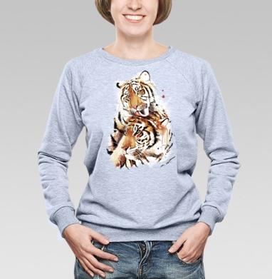 Влюбленные тигры - Купить детские свитшоты с любовью в Москве, цена детских свитшотов с любовью  с прикольными принтами - магазин дизайнерской одежды MaryJane