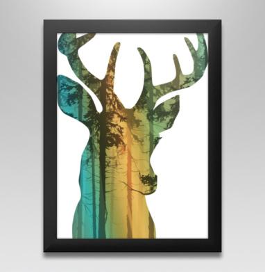 Лес в олене, Постер в чёрной раме
