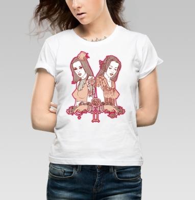 Twins - Купить детские футболки с роами в Москве, цена детских футболок с розой с прикольными принтами - магазин дизайнерской одежды MaryJane