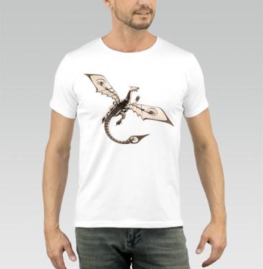 Дракон сегодняшнего дня - Купить мужские футболки с крыльями в Москве, цена мужских футболок с крыльями с прикольными принтами - магазин дизайнерской одежды MaryJane
