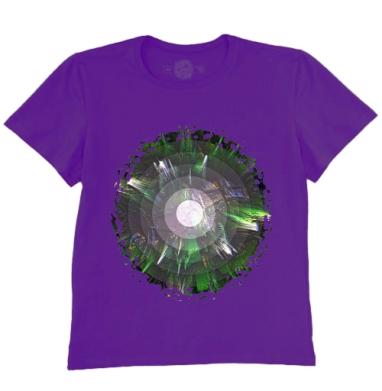 Футболка мужская темно-фиолетовая - Биомикроволны