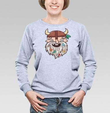 Довольный бородач - Купить женские свитшоты с природой в Москве, цена женских свитшотов с природой  с прикольными принтами - магазин дизайнерской одежды MaryJane