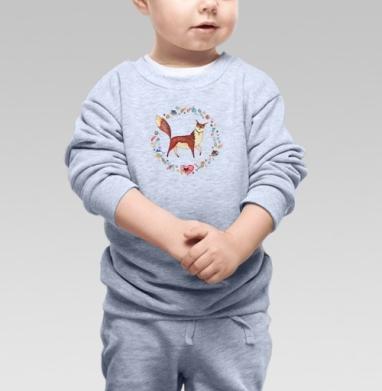 Котовасия - Cвитшот Детский серый меланж, Новинки