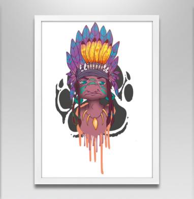 Настоящему индейцу - Постеры, мужские, Популярные