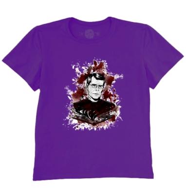 Футболка мужская темно-фиолетовая - Стивен Кинг