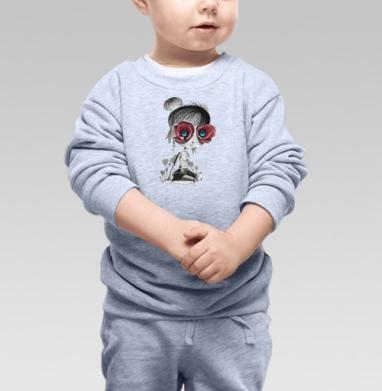 Цветов, принцесса - Cвитшот Детский серый меланж, Новинки