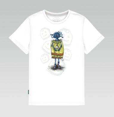 Детская футболка белая - Шаманка