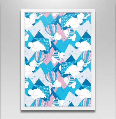 Воздушные шары в горах - Постеры, горы, Популярные