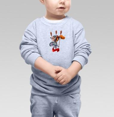 МТБ - Cвитшот Детский серый меланж, Новинки