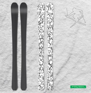 Пальцы Микки Мауса - Наклейки на лыжи