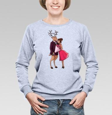 Влюблённые Олени - Купить детские свитшоты с любовью в Москве, цена детских свитшотов с любовью  с прикольными принтами - магазин дизайнерской одежды MaryJane