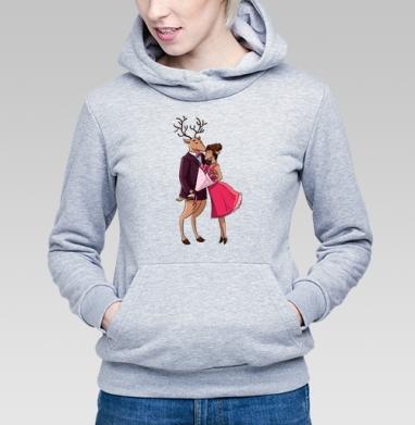 Влюблённые Олени - Купить детские толстовки с любовью в Москве, цена детских толстовок с любовью  с прикольными принтами - магазин дизайнерской одежды MaryJane