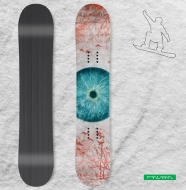 Воспаленное око планеты - Наклейки на доски - сноуборд, скейтборд, лыжи, кайтсерфинг, вэйк, серф