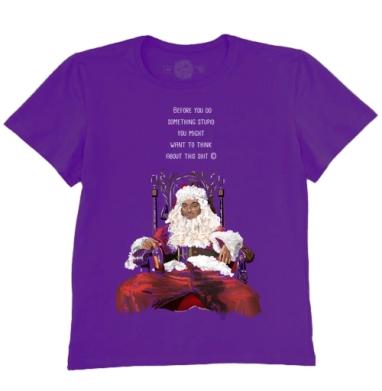 Футболка мужская темно-фиолетовая - Плохой Санта