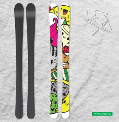 Дудлы - Наклейки на лыжи