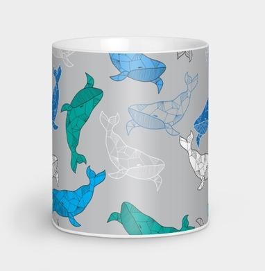 Огромный синий кит - Кружки с логотипом