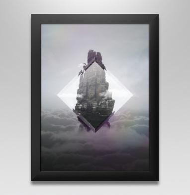 Кристальная скала - Постер в чёрной раме