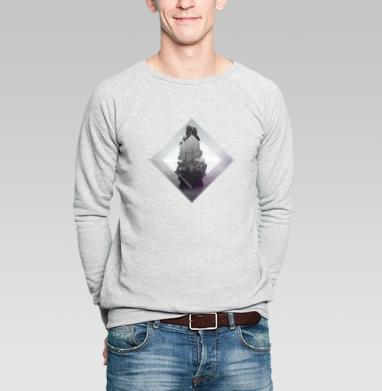Кристальная скала - Купить мужские свитшоты с геометрическим рисунком в Москве, цена мужских свитшотов с геометрическим рисунком  с прикольными принтами - магазин дизайнерской одежды MaryJane