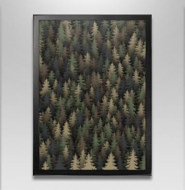Лесной камуфляж - Постер в чёрной раме