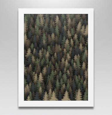 Лесной камуфляж, Постер в белой раме