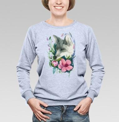 Лис в цветах - Купить детские свитшоты с акварелью в Москве, цена детских свитшотов с акварелью  с прикольными принтами - магазин дизайнерской одежды MaryJane