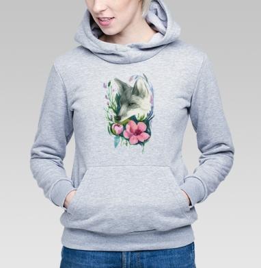 Лис в цветах - Купить детские толстовки с акварелью в Москве, цена детских толстовок с акварелью  с прикольными принтами - магазин дизайнерской одежды MaryJane