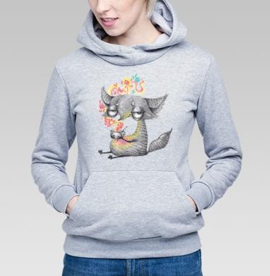Лиса и ароматный чай - Купить детские толстовки с лисой в Москве, цена детских толстовок с лисой  с прикольными принтами - магазин дизайнерской одежды MaryJane
