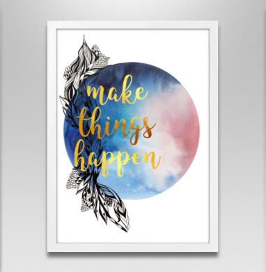 Мотивация - Постер в белой раме, морская