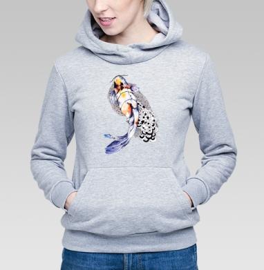 Рыбка кои - Купить детские толстовки с акварелью в Москве, цена детских толстовок с акварелью  с прикольными принтами - магазин дизайнерской одежды MaryJane