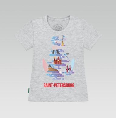 Футболка женская серый меланж, серый меланж - Интернет магазин футболок №1 в Москве