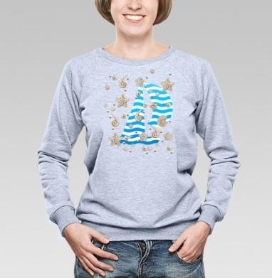 Волны и ракушки - Купить детские свитшоты с летом в Москве, цена детских свитшотов с летом  с прикольными принтами - магазин дизайнерской одежды MaryJane