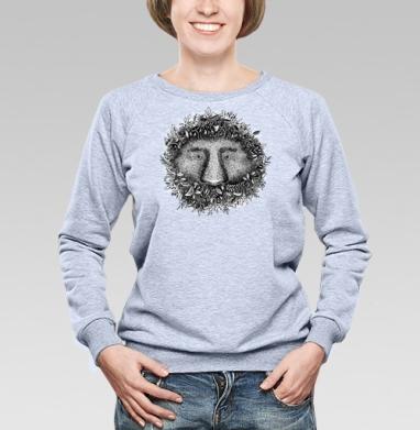 Из листвы смотрящий - Купить женские свитшоты с природой в Москве, цена женских свитшотов с природой  с прикольными принтами - магазин дизайнерской одежды MaryJane