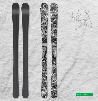 Из листвы смотрящий - Наклейки на лыжи