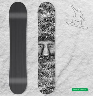 Из листвы смотрящий - Виниловые наклейки на сноуборд купить с доставкой. Воронеж