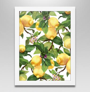 Акварельные лимоны - Постеры, Фрукты