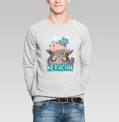 Улитка и котэ - Купить мужские свитшоты с насекомыми в Москве, цена мужских свитшотов с насекомыми  с прикольными принтами - магазин дизайнерской одежды MaryJane